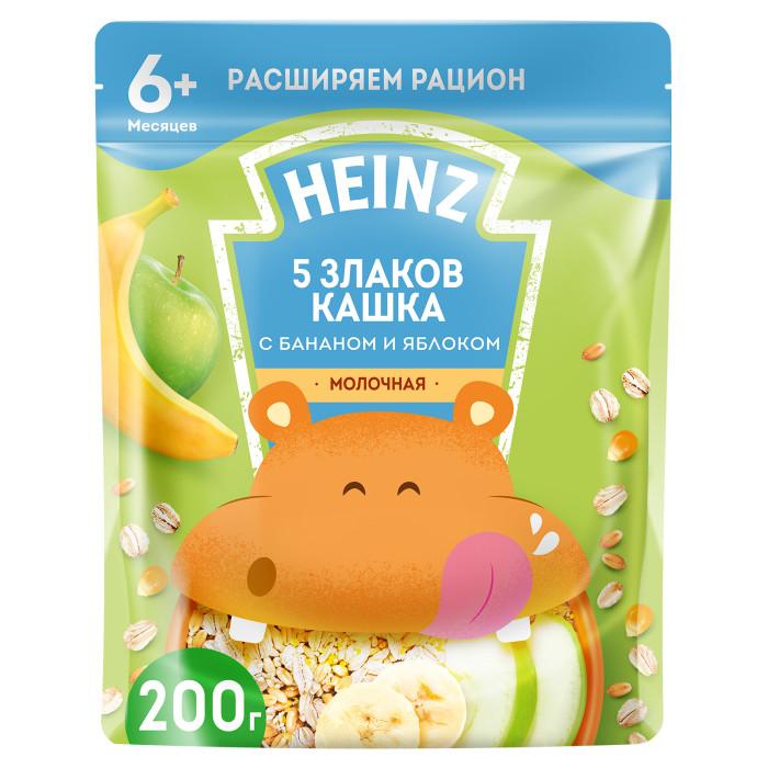 Купить Heinz Молочная 5 злаков каша с бананом яблоком и Омега 3 с 6 мес. 200 г (пауч) в интернет магазине. Цены, фото, описания, характеристики, отзывы, обзоры