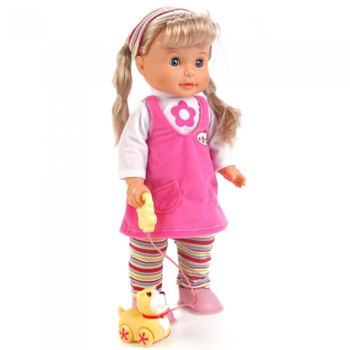 Картинка для Куклы и одежда для кукол Карапуз Кукла с маленьким щенком на поводке 40 см