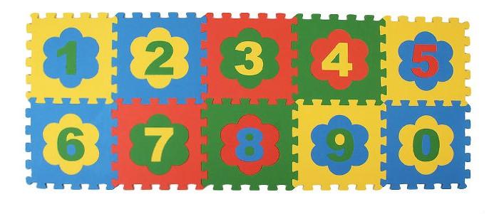 Картинка для Игровые коврики Экопромторг Мягкий пол универсальный Цифры 10 деталей 33x33 см