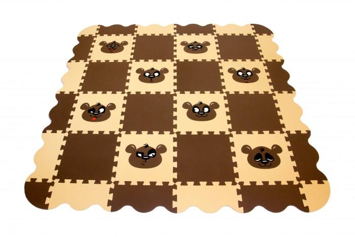 Картинка для Игровые коврики Экопромторг Мягкий пол универсальный Панда 36 деталей 33x33 см