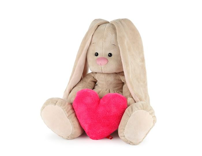 Мягкая игрушка Budi Basa Зайка Ми Большой с сердцем 34 см