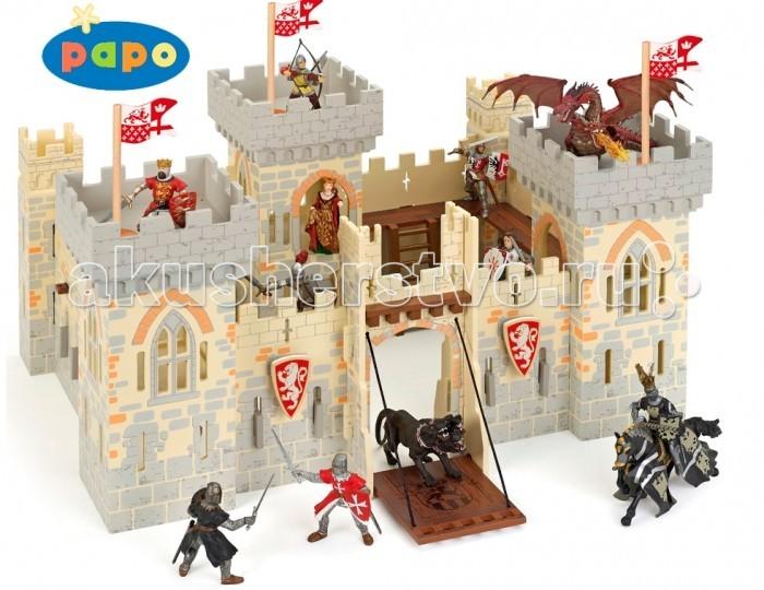 Papo Игровая реалистичная фигурка Замок рыцарейИгровая реалистичная фигурка Замок рыцарейИгровая реалистичная фигурка Замок рыцарей 60002  Замок рыцарей - прекрасный выбор Вашему ребенку. Игра с замком способствует развитию эмоционального восприятия окружающего мира, воображению, творческих способностей, логического мышления, координации и мелкой моторики рук.   Замок легко собирается из основных деревянных элементов.  В комплект входит: 38 деревянных деталей для сборки замка и 8 пластиковых предметов.   Фигурки в комплект не входят.<br>