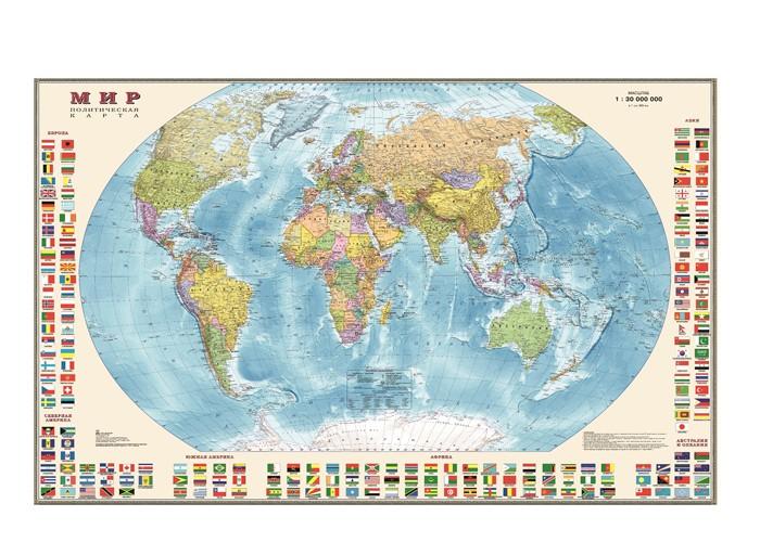 Купить Ди Эм Би Политическая карта Мир с флагами в прозрачном тубусе 1:30М в интернет магазине. Цены, фото, описания, характеристики, отзывы, обзоры