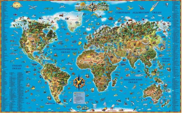 Купить Ди Эм Би Карта Мира для детей ламинированная в прозрачном пластиковом тубусе 122х78 см в интернет магазине. Цены, фото, описания, характеристики, отзывы, обзоры