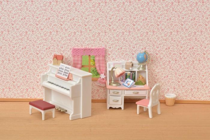 Кукольные домики и мебель Sylvanian Families Набор рабочий стол и пианино