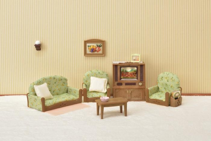 Купить Кукольные домики и мебель, Sylvanian Families Набор гостиная и телевизор