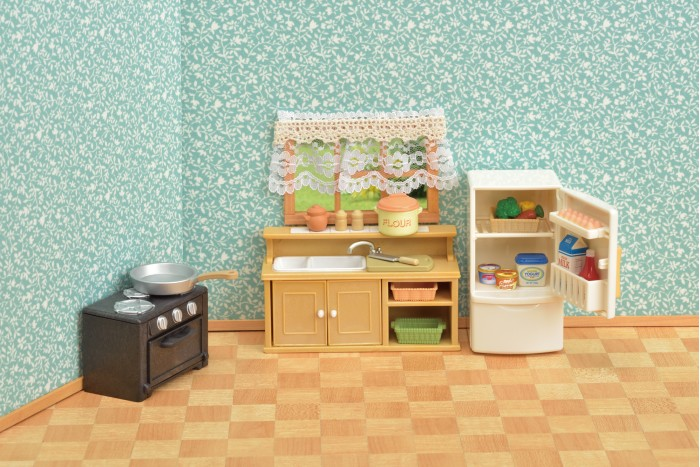 Купить Кукольные домики и мебель, Sylvanian Families Набор кухня и холодильник