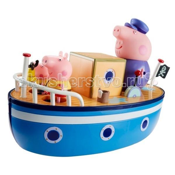 Игрушки для ванны Свинка Пеппа (Peppa Pig) Игровой набор Морское приключение  игровой набор любимый персонаж peppa pig 4 фигурки в ассортименте свинка пеппа