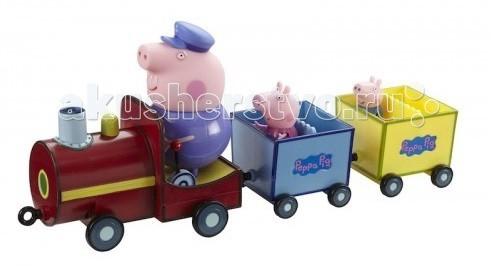 Купить Игровые наборы, Свинка Пеппа (Peppa Pig) Игровой набор Паровозик дедушки Пеппы со звуком