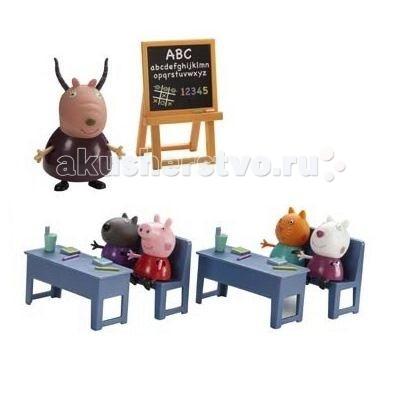 Игровые наборы Свинка Пеппа (Peppa Pig) Игровой набор Идем в школу набор для лепки peppa pig свинка пеппа