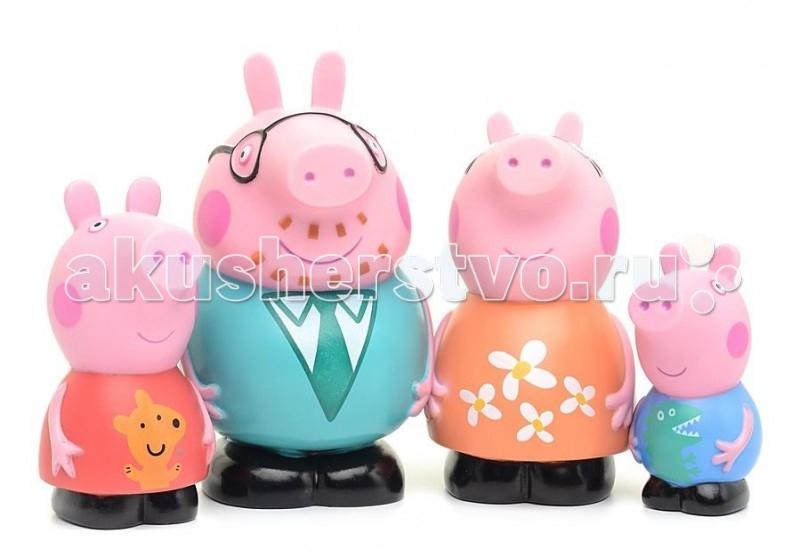 Игрушки для ванны Свинка Пеппа (Peppa Pig) Игрушка для купания Семья Пеппы мягкая игрушка peppa pig джордж с машинкой свинка розовый текстиль 18 см 29620