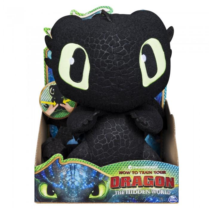 Купить Мягкие игрушки, Мягкая игрушка Dragons Плюшевый Беззубик со звуковыми эффектами 25 см