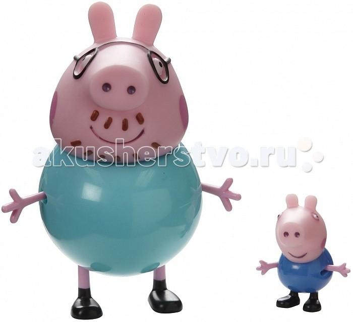 Игровые фигурки Свинка Пеппа (Peppa Pig) Семья Пеппы 2 фигурки пазл origami peppa pig транспорт 4 в 1