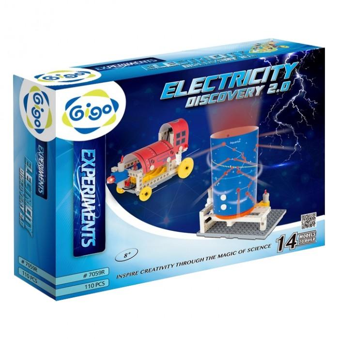 Конструктор Gigo Электрическая энергия 2.0 (110 деталей)Конструкторы<br>Gigo Электрическая энергия 2.0 (110 деталей) – лучшая площадка для развития интеллекта!   Конструктор объединяет науку и инженерное творчество. Проведите 6 экспериментов и соберите 8 действующих моделей, используя полученные знания! Все модели для работы используют электрическую энергию.  комплект строительных элементов и  ключ разборочный мотор и 4 проволочных соединителя держатели для 2 батареек формата AA-LR6 (сами элементы питания приобретаются отдельно) В комплектацию добавлены тематические наклейки, которые превращают модели в занятные игрушки:  причал с чайками установку для оптической иллюзии божью коровку созвездия зодиака подводную лодку радиолокационную станцию локомотив вертолет Ребенку предстоит иметь дело с удивительным физическим явлением, которое может быть непредсказуемым, поэтому перед началом занятий ознакомьте его с техникой безопасности и инструкциями по правильной сборке.  Изучите понятия электрического тока и напряжения. Сталкивается ли ребенок с этими понятиями каждый день? После теоретического введения попробуйте вместе собрать первые схемы так, чтобы лампочка загорелась, а мотор начал вращение.  Только когда ребенок разберется с принципом работы электрической цепи, переходите к сборке игрушек.