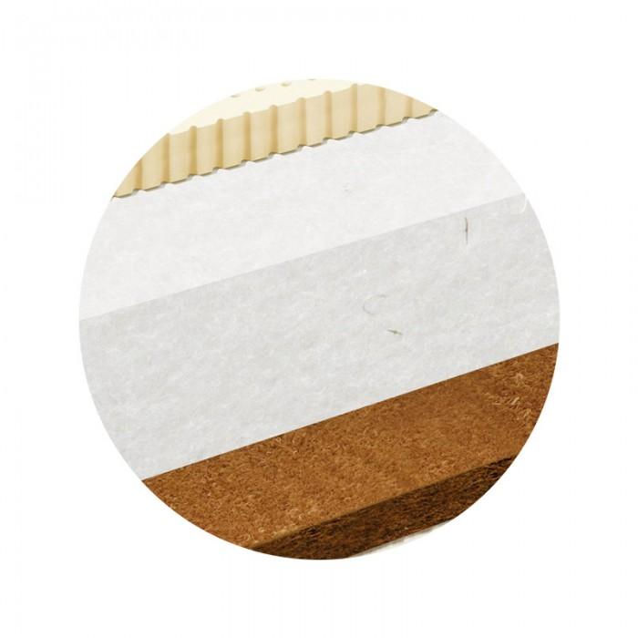 Матрас BamBola Матрас в круглую кроватку ARIA LUXEМатрасы<br>BamBola Матрас в круглую кроватку ARIA LUXE  Круглый матрас двусторонней жесткости в кроватку.  Основой матраса является плита холлофайбера повышенной жесткости, с одной стороны продублирована слоем натурального кокоса (для повышения жесткости), а с другой стороны - слой натурального латекса (для придания комфорта).  Ткань покрытия - высококачественный, стеганый х/б трикотаж. Отличается особой упругостью и гигроскопичностью.  Диаметр 75 см