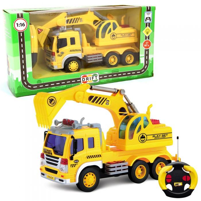 Drift Машина на радиоуправлении грузовик с экскаватором