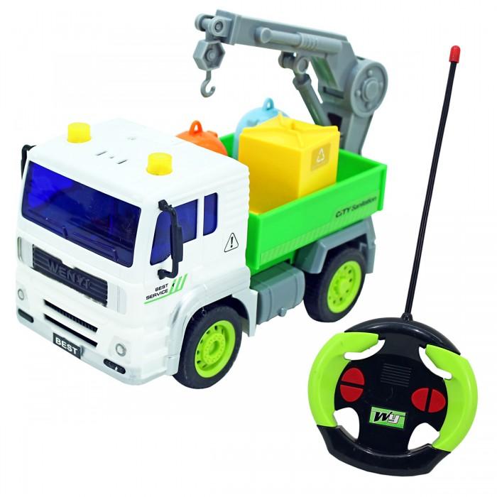 Drift Машина на радиоуправлении грузовик Мусоровоз с манипулятором