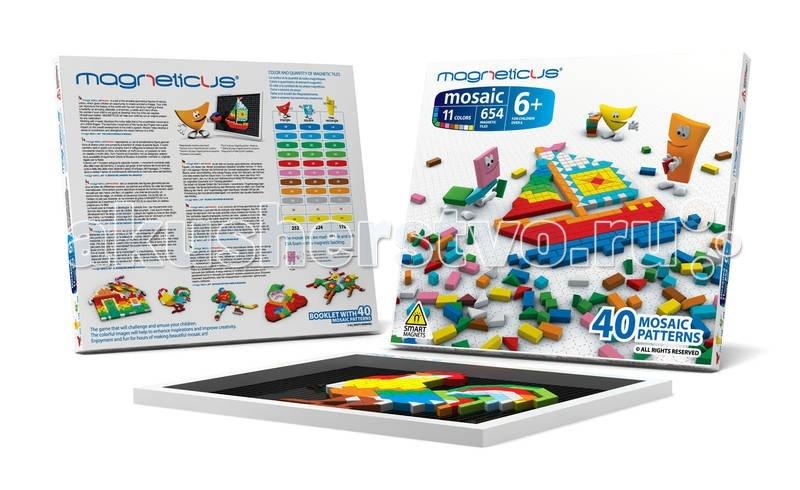 Мозаика Magneticus Мозаика магнитная 654 элементов мозаика miniland 15 мм 160 элементов 6 картинок 31805