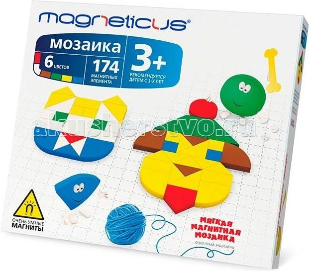 Мозаика Magneticus Мозаика магнитная 174 элемента магнитная мозаика magneticus mm 174 174 элемента 6 цветов 30 этюдов