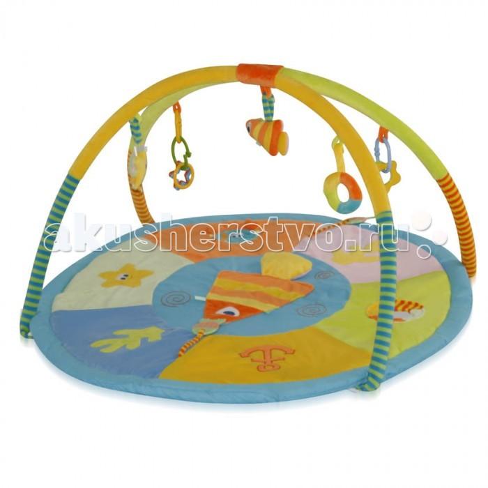 Развивающий коврик Bertoni (Lorelli) Океан 90х90 смОкеан 90х90 смКонструкция легко собирается и переносится.   Яркий развивающий коврик  Выполнен из разных по фактуре материалов Внутрь вшита пищалка, сверху - шуршащие элементы В комплект входят съемные дуги и занимательные игрушки с погремушками Игрушки могут использоваться отдельно как погремушки, прорезыватели и мягкие игрушки Развивает тактильное, звуковое и цветовое восприятия, координацию движений и мелкую моторику рук с самого рождения Материал: текстиль  Упаковка - прозрачная пластиковая сумочка с ручкой.  Размеры: 90х90 см.<br>