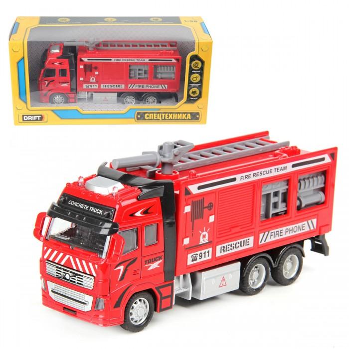 Машины Drift Машина спецтехника Пожарная машина 1:38 машины drift машина с подъемным краном