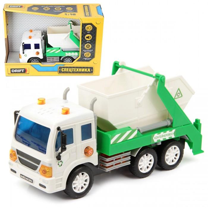 Машины Drift Машина спецтехника Портальный погрузчик мусорный 1:18