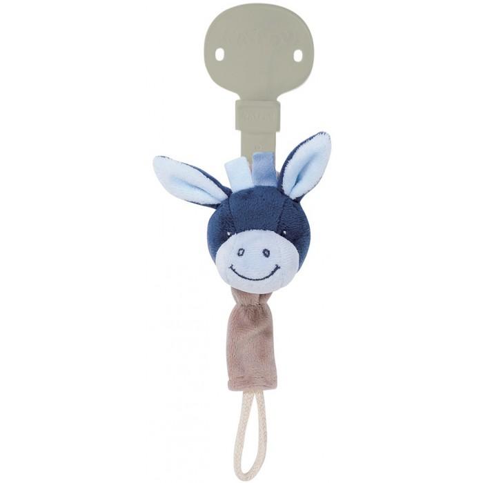 Аксессуары для пустышек Nattou Держатель для соски Pacifinder Alex Bibou Ослик мягкие игрушки nattou musical soft toy mini alex bibiou музыкальная ослик