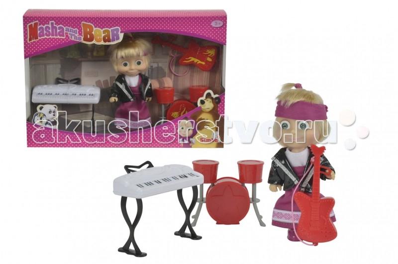 Куклы и одежда для кукол Simba Кукла Маша в рок-наряде 12 см simba simba гитара hello kitty 6 36