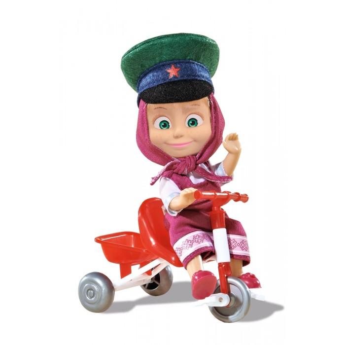 Куклы и одежда для кукол Simba Кукла Маша в фуражке с велосипедом 12 см
