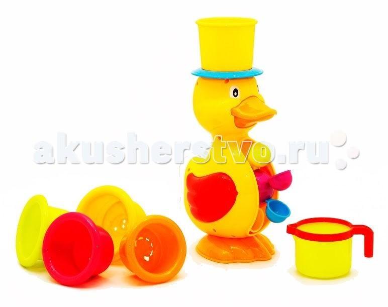 Игрушки для ванны Brasco Игрушка для ванной Утенок с формочками платья acoola платье детское для девочек цвет синий размер 158 20210200180