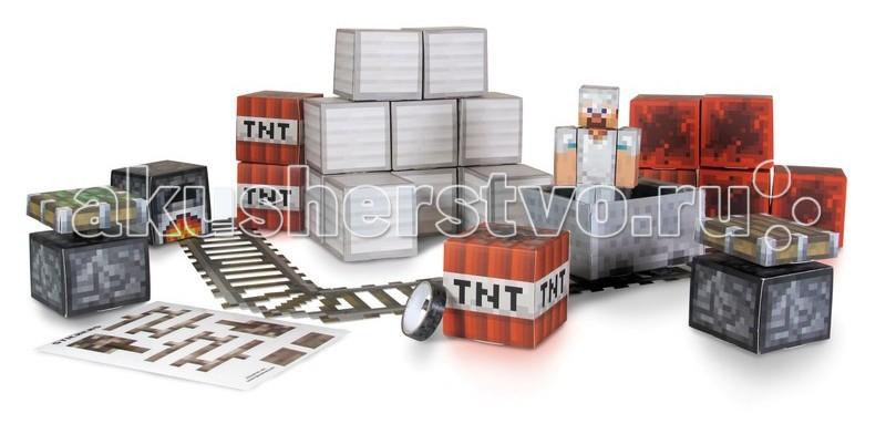 Конструкторы Minecraft Вагонетка и взрывчатка ТНТ 48 деталей цена и фото