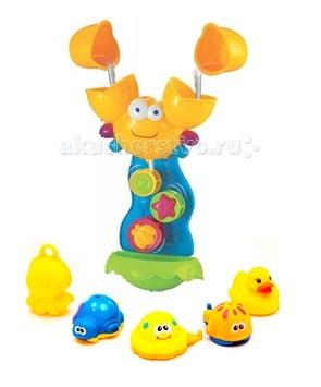 Игрушки для ванны Brasco Игрушка для ванной Крабик с друзьями игрушки для ванной склад уникальных товаров все для ванной пробка универсальная крабик