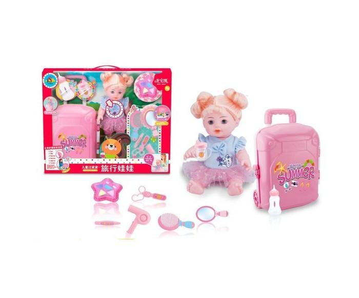 Наша Игрушка Кукла-путешественница аксессуарами 9 предметов 35 см