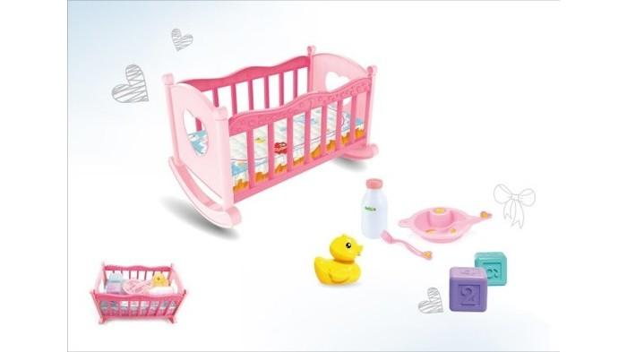 Кроватка для куклы Наша Игрушка в наборе с аксессуарами