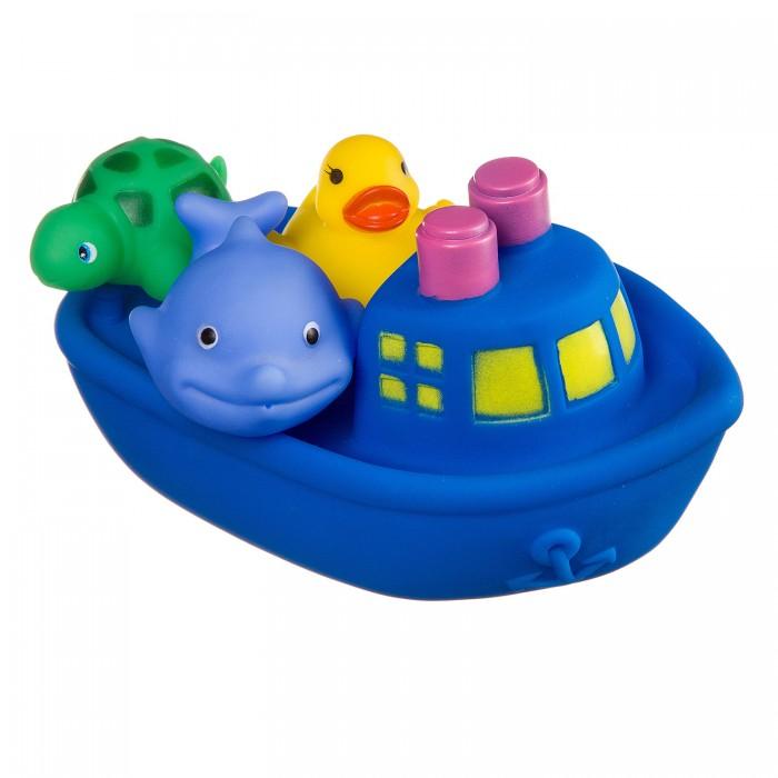 Игрушки для ванны Bondibon Набор игрушек для купания Корабль Дельфин Утенок Черепаха