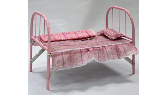 кроватки для кукол Кроватки для кукол Наша Игрушка с аксессуарами для сна