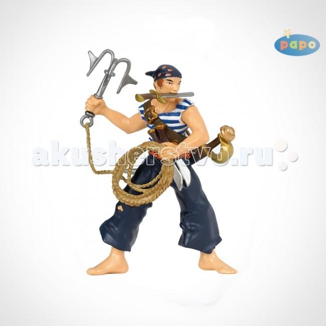 Игровые фигурки Papo Игровая фигурка Пират с абордажным крюком