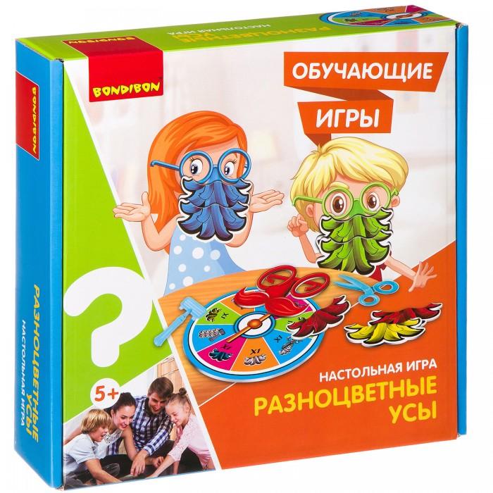 Купить Настольные игры, Bondibon Настольная игра Разноцветные усы
