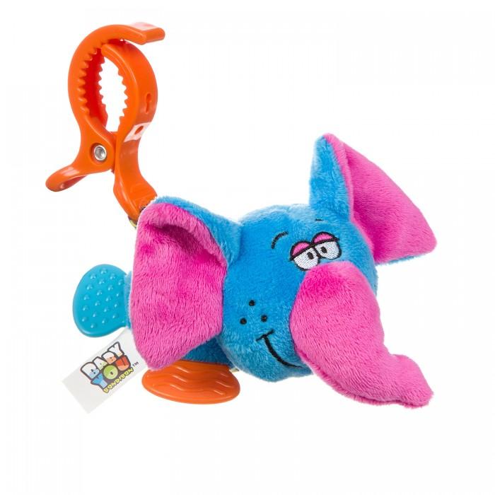 Подвесные игрушки Bondibon растяжка с прищепкой Слон