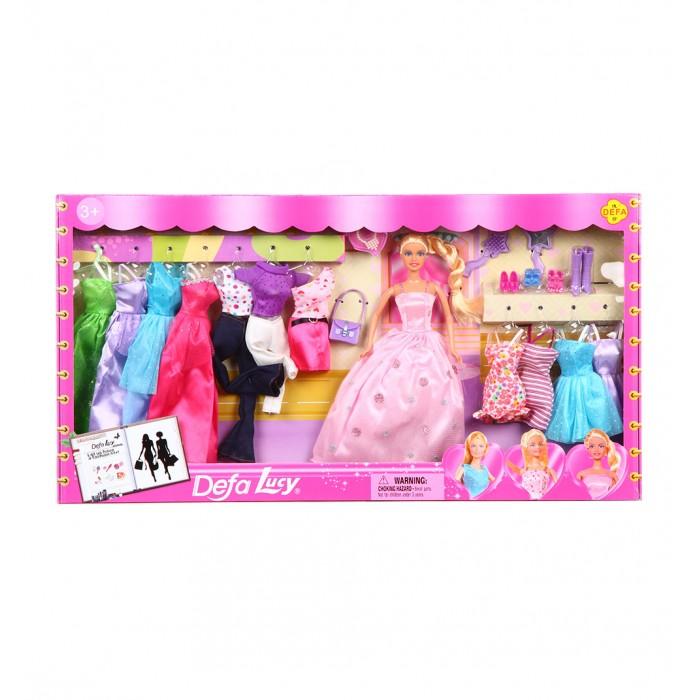 Фото - Куклы и одежда для кукол Defa Lucy кукла с гардеробом 28 см dl8193 куклы и одежда для кукол miraculous кукла леди баг костюм рисунок 26 см