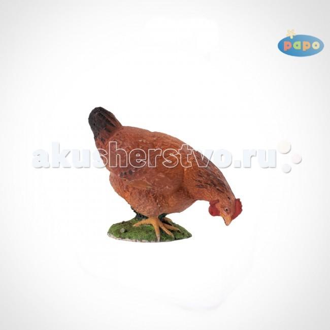Игровые фигурки Papo Игровая реалистичная фигурка Рябая курица