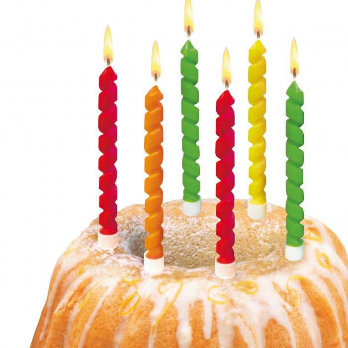 Товары для праздника Susy Card Свечи для торта Twister 6 шт.