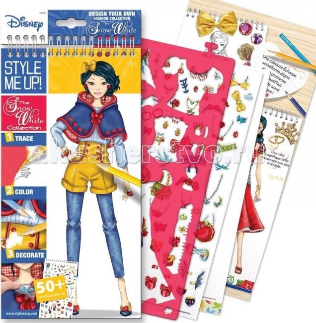 Наборы для творчества Wooky Style Me Up Блокнот с трафаретами Disney Коллекция Белоснежки наборы для творчества wooky style me up блокнот с карандашами супер звезда