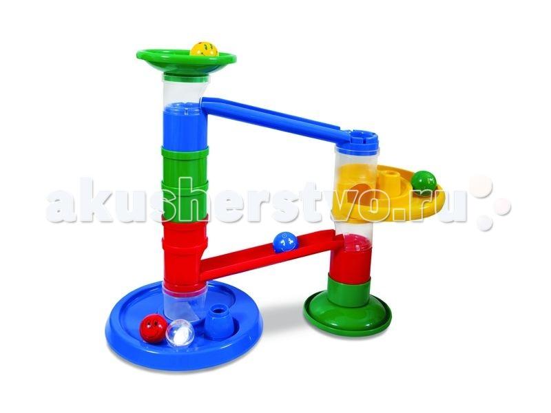 Конструктор Tototoys Крутые виражи Rollipop (14 деталей + 5 шаров)Крутые виражи Rollipop (14 деталей + 5 шаров)Конструктор TotoToys 800 Крутые виражи Rollipop 14 Дет. + 5 Шаров. Конструктор TOTOTOYS Роллипоп 14 Деталей + 5 Шаров может стать первым конструктором ваших детей, ведь с ним можно играть начиная с 9 месяцев. C помощью конструктора можно построить простой лабиринт, по которому будут кататься шарики. Сначала нужно соединить цветные детали, создавая лабиринт для шариков, а затем смотреть, как шарики катятся по созданной трассе. Малышу будет очень весело запускать в лабиринт шарики и смотреть, как они крутятся, падают и съезжают с горки.  В конструкторе крупные детали, поэтому малышу будет удобно играть с ними. В комплекте трубки для построения вертикалей, воронка, круговые дорожки, шарики диаметром 4,5 см. На шариках нарисованы симпатичные рожицы, которые будут улыбаться малышу во время игры. Конструктор Роллипоп 14 Деталей + 5 Шаров отлично развивает пространственное и логическое мышление, воображение, концентрацию внимания, мелкую моторику рук, цветовое и звуковое восприятие.<br>