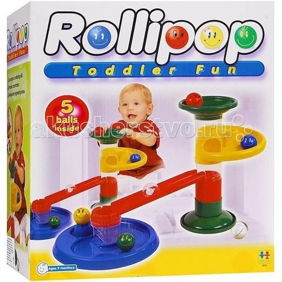 Конструкторы Tototoys Крутые виражи Rollipop (10 деталей + 5 шаров)