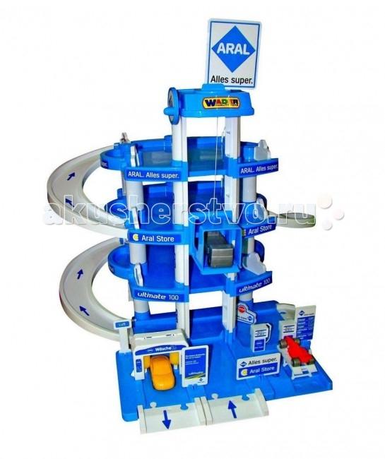 Wader Паркинг ARAL 4-уровневыйПаркинг ARAL 4-уровневыйWader Паркинг ARAL 4-уровневый с многочисленными съездами, пандусами и лифтом для подъема автомобилей на верхние этажи парковки.   Благодаря крупным деталям ребенок сам сможет собрать паркинг и устроить настоящие гонки!   Яркий парковочный комплекс обязательно понравится всем маленьким любителям автомобилей.<br>
