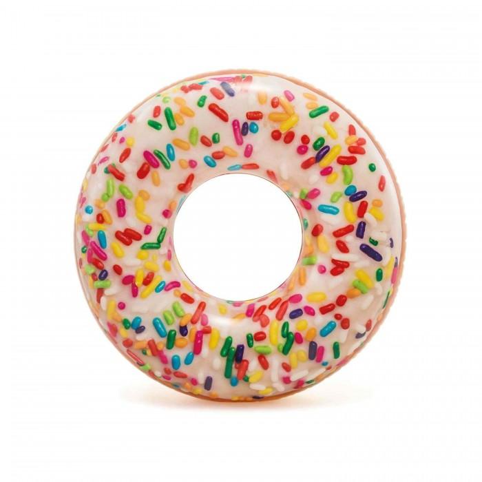 Купить Круги и нарукавники для плавания, Intex Надувной круг Пончик с присыпкой 114 см