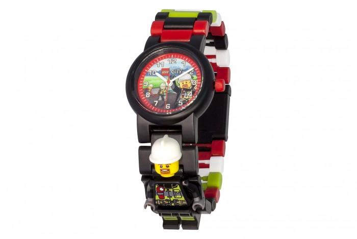 Часы Lego наручные аналоговые City с минифигурой Fireman на ремешке