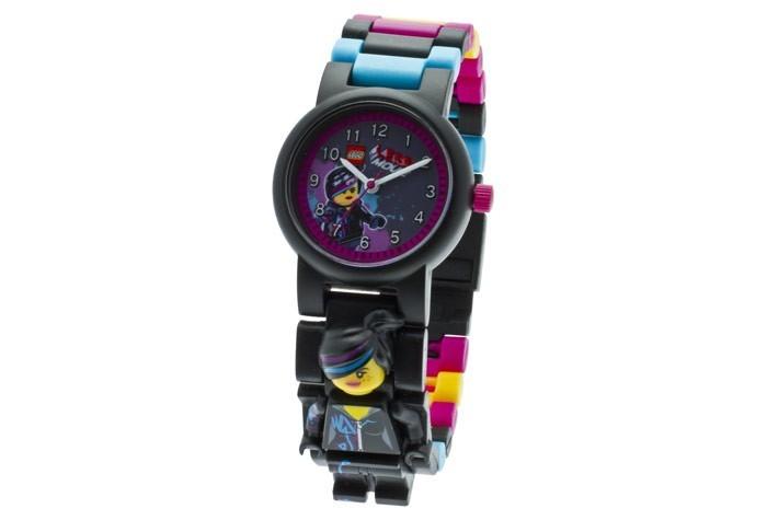Часы Lego наручные аналоговые Movie 2 с минифигурой Wyldstyle на ремешке