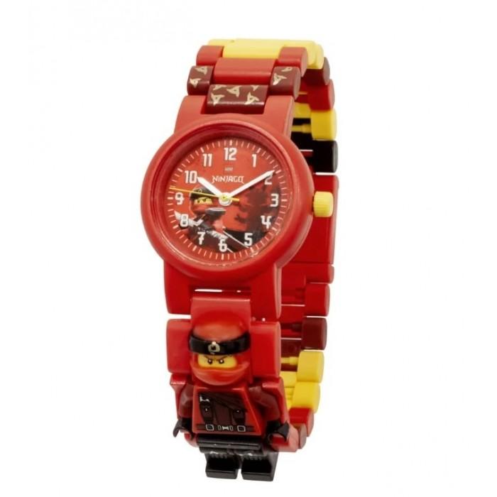 Часы Lego наручные аналоговые Ninjago Movie с минифигурой Kai на ремешке